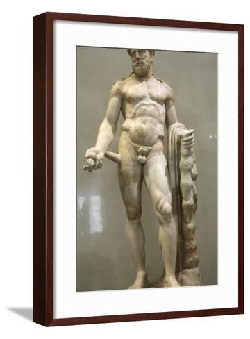 Statue of Heracles, 2nd Century--Framed Art Print