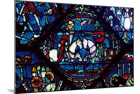 Combat Between Roland and King Marsile, Stained Glass, Chartres Cathedral, France, 1194-1260--Mounted Photographic Print