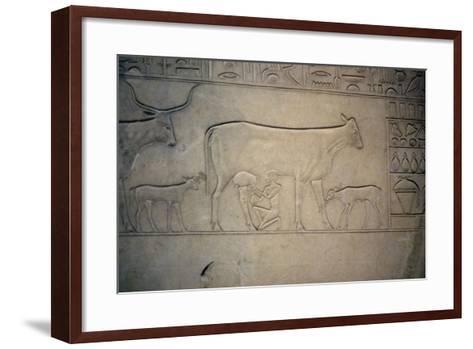 Sarcophagus, Middle Kingdom, Ancient Egyptian, C2040-1786 Bc--Framed Art Print