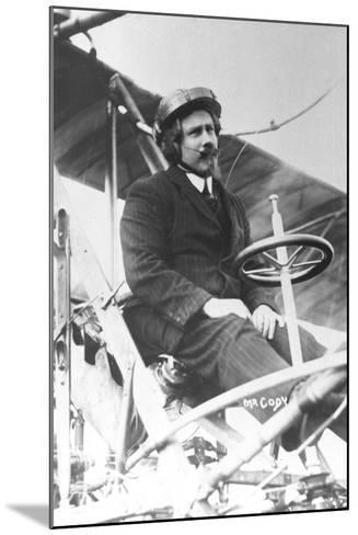 Samuel Franklin Cody (1862-191) in His Biplane--Mounted Photographic Print