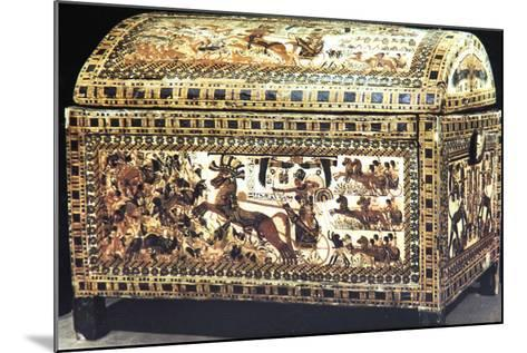 Painted and Inlaid Coffer from the Treasure of Tutankhamun, Ancient Egyptian, C1325 Bc--Mounted Photographic Print