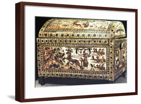 Painted and Inlaid Coffer from the Treasure of Tutankhamun, Ancient Egyptian, C1325 Bc--Framed Art Print