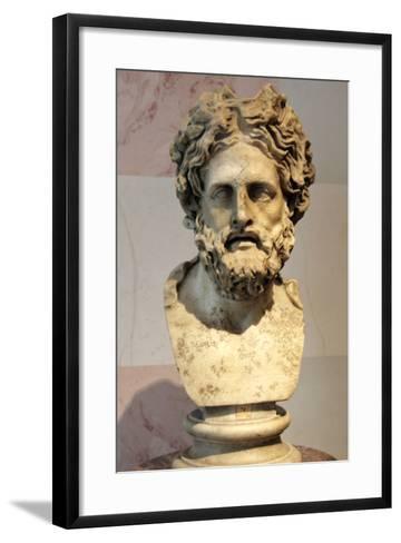 Head of Asklepios, Greek God of Healing--Framed Art Print