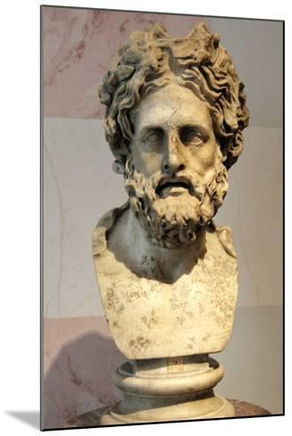 Head of Asklepios, Greek God of Healing--Mounted Photographic Print