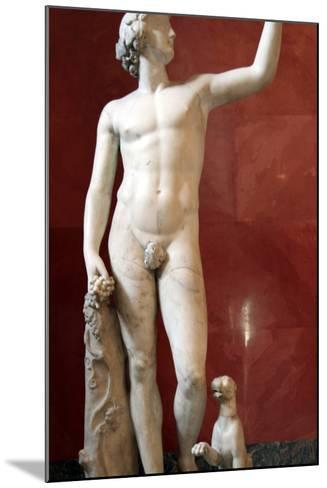Statue of Dionysus, God of Wine and Patron of Wine Making--Mounted Photographic Print