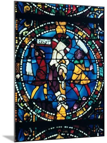 The Flagellation, Stained Glass, Chartres Cathedral, France, 1194-1260--Mounted Photographic Print
