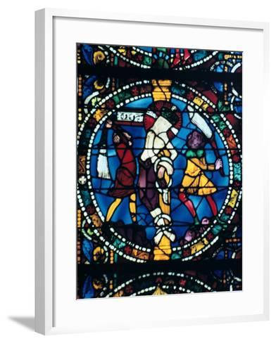 The Flagellation, Stained Glass, Chartres Cathedral, France, 1194-1260--Framed Art Print