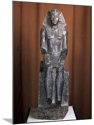 Statue of the Pharaoh Amenemhat III, 19th Century Bc--Mounted Photographic Print