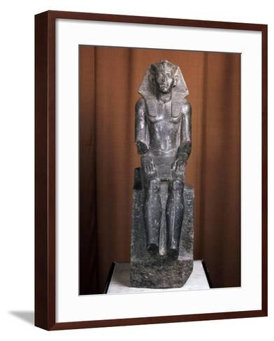 Statue of the Pharaoh Amenemhat III, 19th Century Bc--Framed Art Print