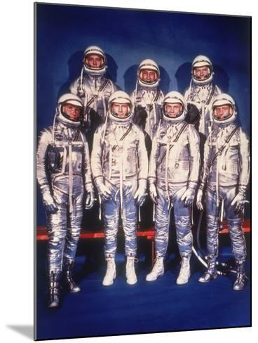 The Mercury Seven Astronauts, 1959--Mounted Photographic Print