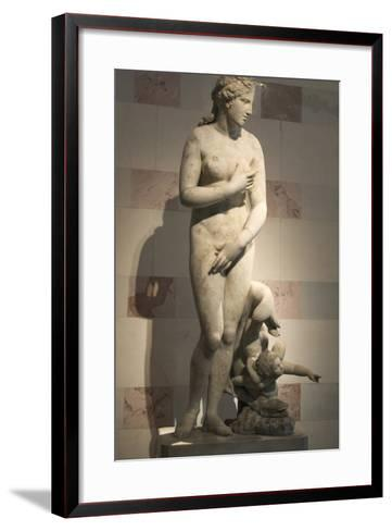 Statue of Aphrodite, Goddess of Beauty and Love--Framed Art Print
