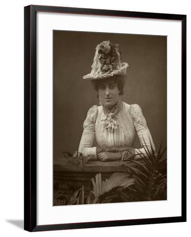 British Actress Cissy Grahame in the Pickpocket, 1886- Barraud-Framed Art Print