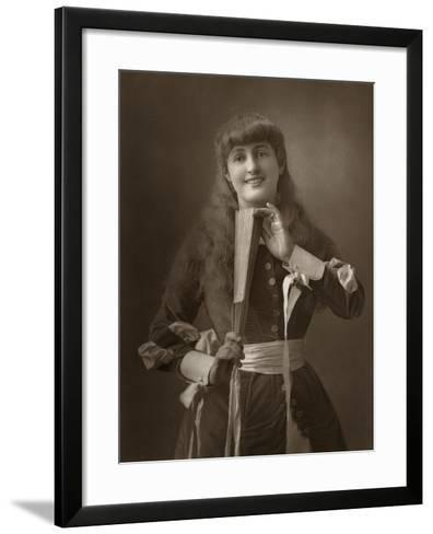 British Actress Alice Atherton in Oliver Grumble, 1886- Barraud-Framed Art Print
