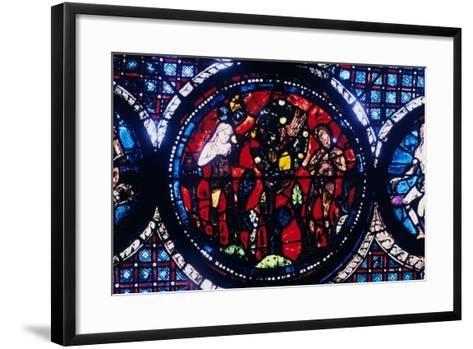 Adam and Eve (The Fall of Ma), Stained Glass, Chartres Cathedral, France, 1194-1260--Framed Art Print