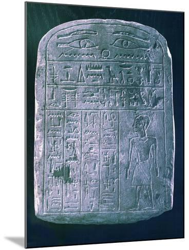 Votive Stele Dedicated by His Brother to a Man from Ermant, Near Thebes, Ancient Egypt--Mounted Photographic Print