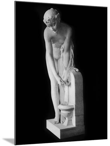 Girl at the Fountain, 19th Century-Alexandre Schoenewerk-Mounted Photographic Print