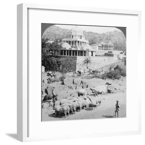 Temples of the Jains, Mount Abu, India, 1902-Underwood & Underwood-Framed Art Print
