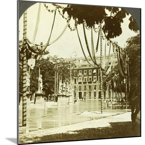 Decorations, Plaza De Oriente, Madrid, Spain--Mounted Photographic Print