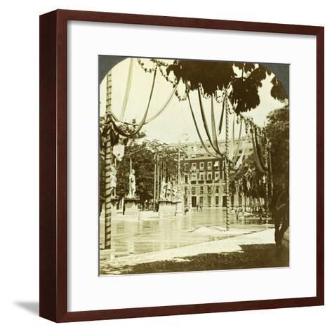 Decorations, Plaza De Oriente, Madrid, Spain--Framed Art Print