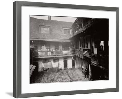 Courtyard at the Oxford Arms Inn, Warwick Lane, from the First Floor, City of London, 1875--Framed Art Print