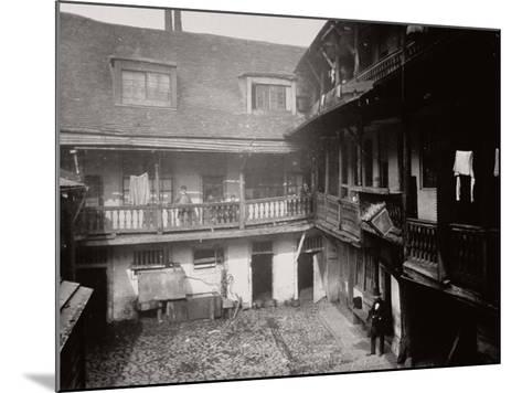 Courtyard at the Oxford Arms Inn, Warwick Lane, from the First Floor, City of London, 1875--Mounted Photographic Print