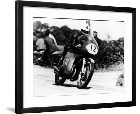 John Hartle Winning the Isle of Man Junior Tt, on an Mv Agusta, 1960--Framed Art Print