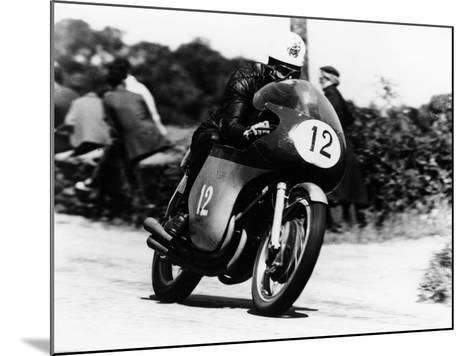 John Hartle Winning the Isle of Man Junior Tt, on an Mv Agusta, 1960--Mounted Photographic Print