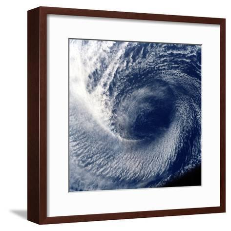 Eye of Tropical Storm 'Blanca' Photographed Between 17 and 24 June 1985--Framed Art Print