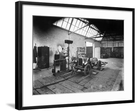 Morris Minor on Test, Cowley, Oxfordshire, C1930--Framed Art Print