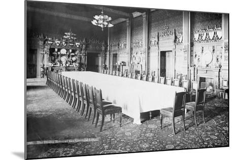 The Dining Room, Viceregal Lodge, India, 20th Century--Mounted Photographic Print