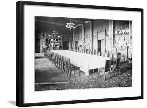 The Dining Room, Viceregal Lodge, India, 20th Century--Framed Art Print