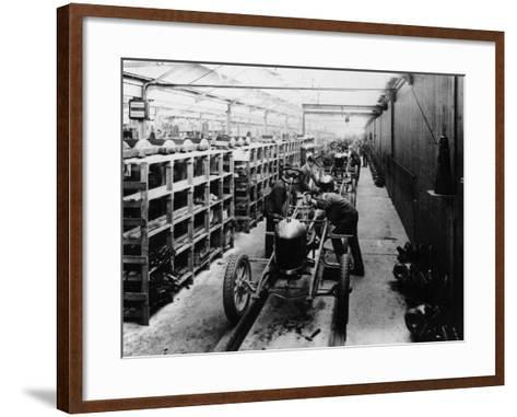 Assembly Line of the Morris Bullnose, Cowley, Oxfordshire, 1925--Framed Art Print