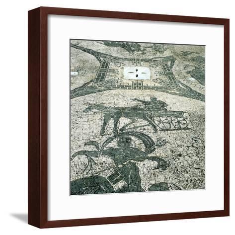 Chariotieer, Mosaic, Cisarii, Ostia, Italy, C1st Century--Framed Art Print