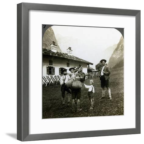 Bavarian Mountaineers, Germany-Underwood & Underwood-Framed Art Print
