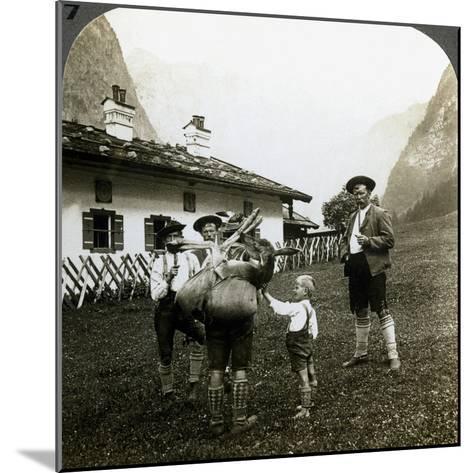 Bavarian Mountaineers, Germany-Underwood & Underwood-Mounted Photographic Print