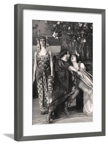 Herbert Beerbohm Tree, Constance Collier and Alice Crawford, English Actors, 1907-FW Burford-Framed Art Print