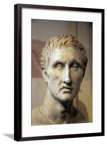Head of Menander, Greek Playwright- Timarchos and Kephisodotos the Younger-Framed Art Print