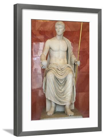Statue of Augustus as Jupiter, First Half of 1st Century Bc--Framed Art Print