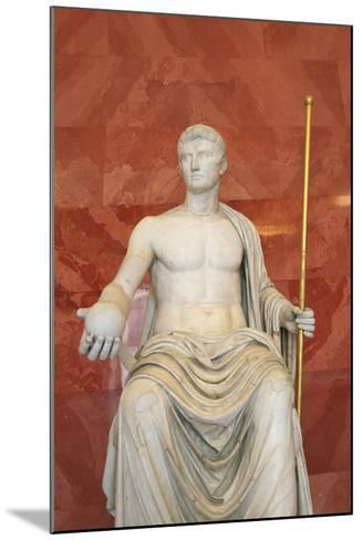 Statue of Augustus as Jupiter, First Half of 1st Century Bc--Mounted Photographic Print