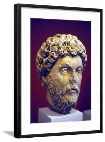 Hadrian (76-13), Roman Marble Bust--Framed Art Print
