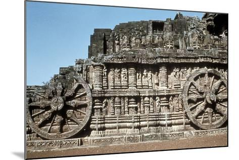 Side Wall of the Chariot, Temple of the Sun, Konarak, India, 13th Century--Mounted Photographic Print