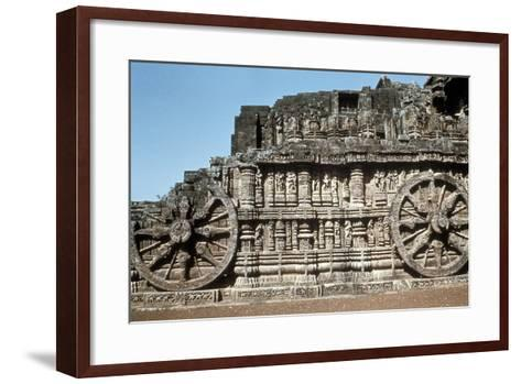 Side Wall of the Chariot, Temple of the Sun, Konarak, India, 13th Century--Framed Art Print