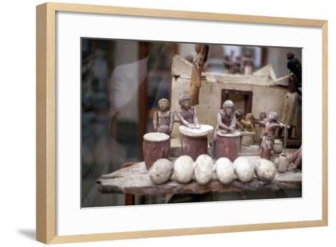 Funerary Tomb Model of a Bakery, Ancient Egyptian--Framed Art Print
