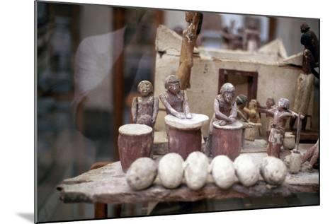 Funerary Tomb Model of a Bakery, Ancient Egyptian--Mounted Photographic Print