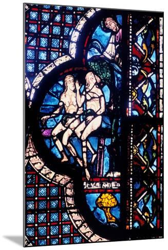God Confronts Adam and Eve, Stained Glass, Chartres Cathedral, France, 1205-1215--Mounted Photographic Print