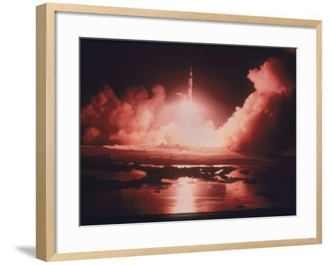 Launch of the Apollo 17 Mission, 1972--Framed Art Print