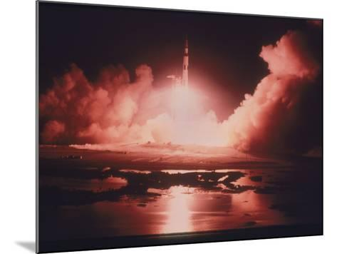Launch of the Apollo 17 Mission, 1972--Mounted Photographic Print