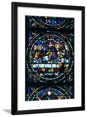 The Last Supper, Stained Glass, Chartres Cathedral, France, 1205-1215--Framed Art Print