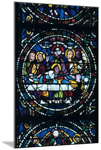 The Last Supper, Stained Glass, Chartres Cathedral, France, 1205-1215--Mounted Photographic Print