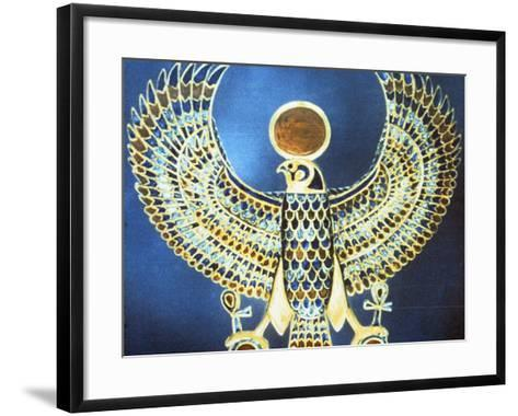 Pectoral Showing the God Horus, Ancient Egyptian, 18th Dynasty, C1325 Bc--Framed Art Print